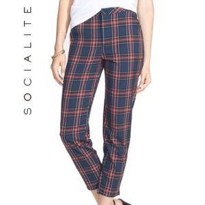 ⛱ SOCIALITE Plaid Crop Pants